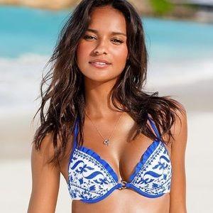Victoria's Secret Floral Push Up Bikini Top 34D🌺